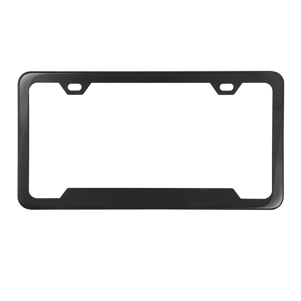 60411 Plain 2-Hole License Plate Frames with Center Raised