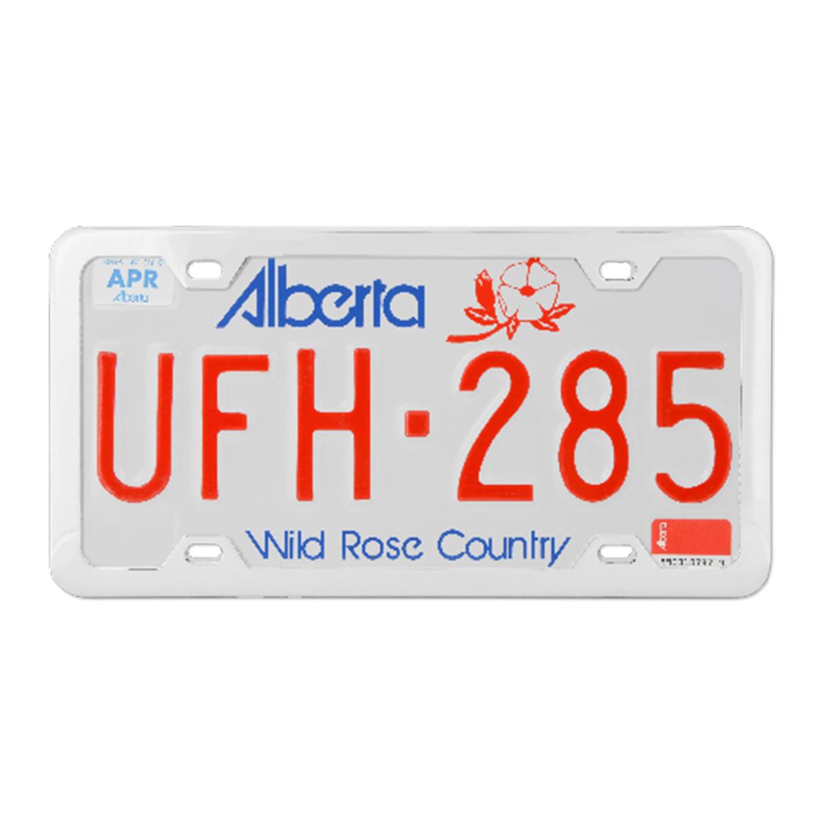 60412 Plain Chrome Plated 4 Hole License Plate Frame - Profile View