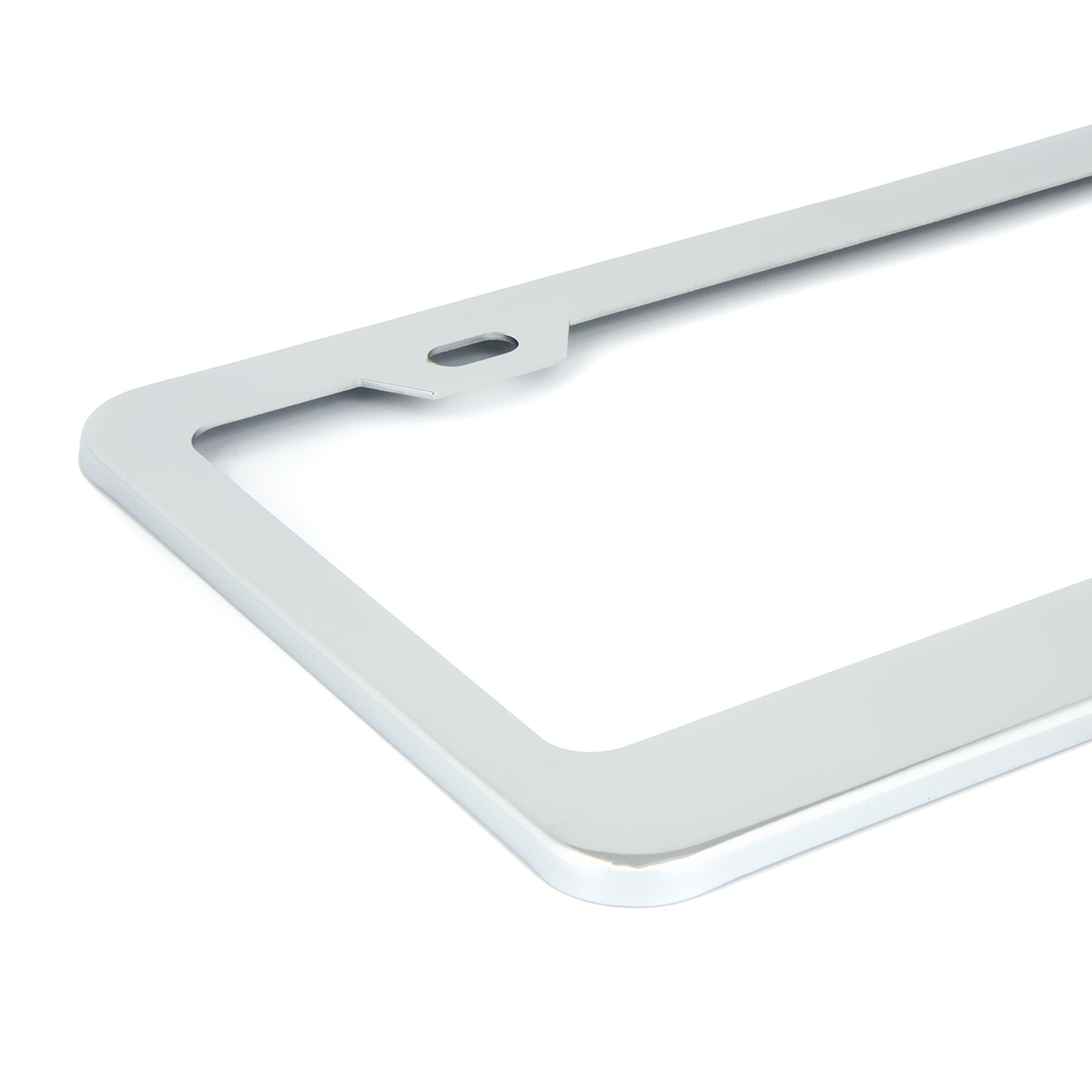 Chrome Plated Steel USA License Plate Frame - Close Up View