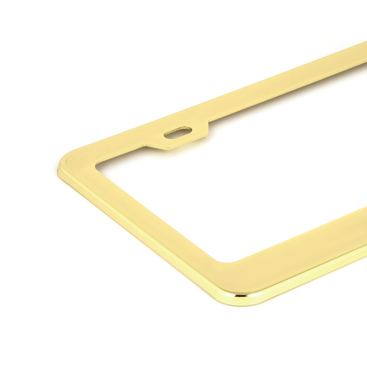 Brass-Plated (Gold Color) USA License Plate Frame - Close Up View