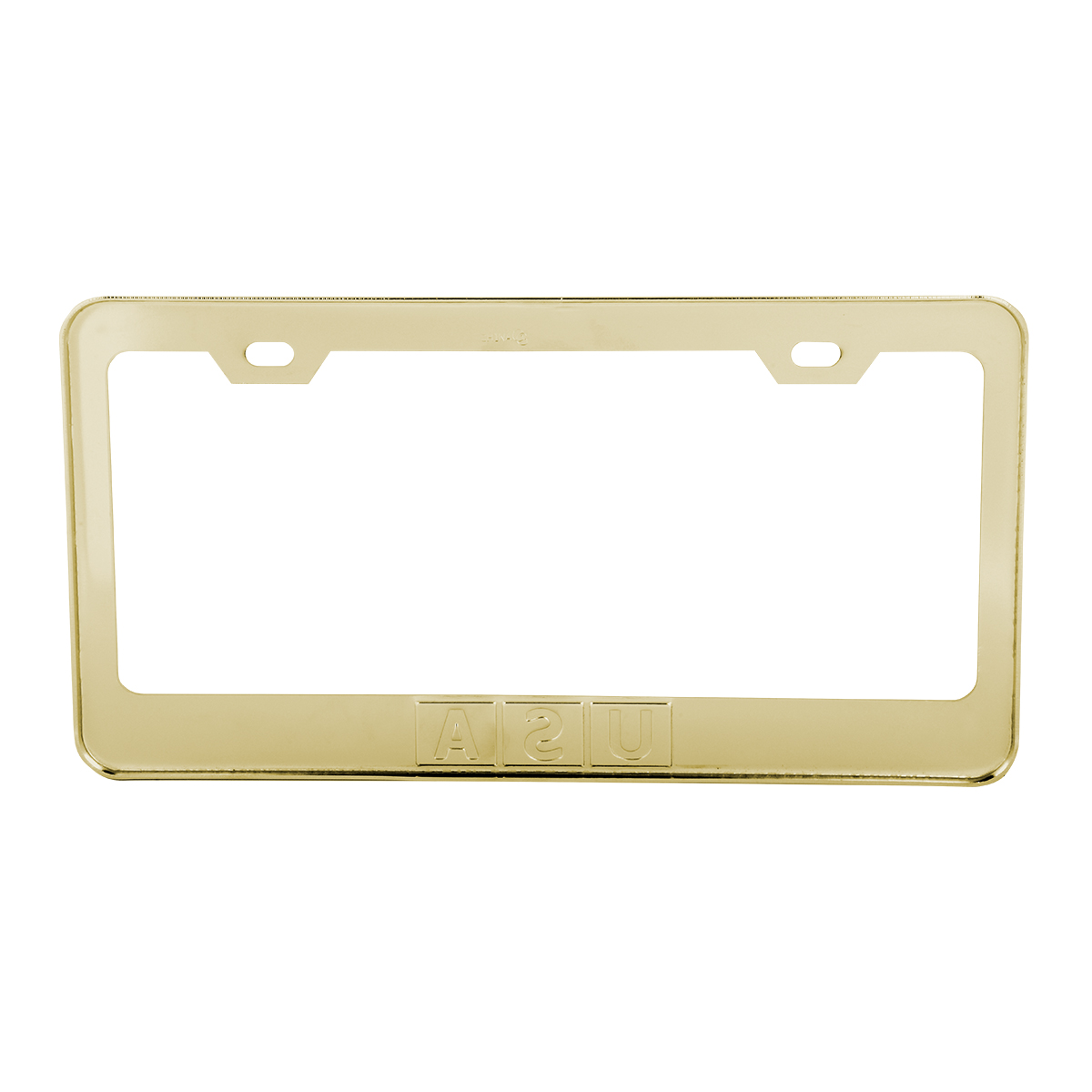 Brass-Plated (Gold Color) USA License Plate Frame - Back View