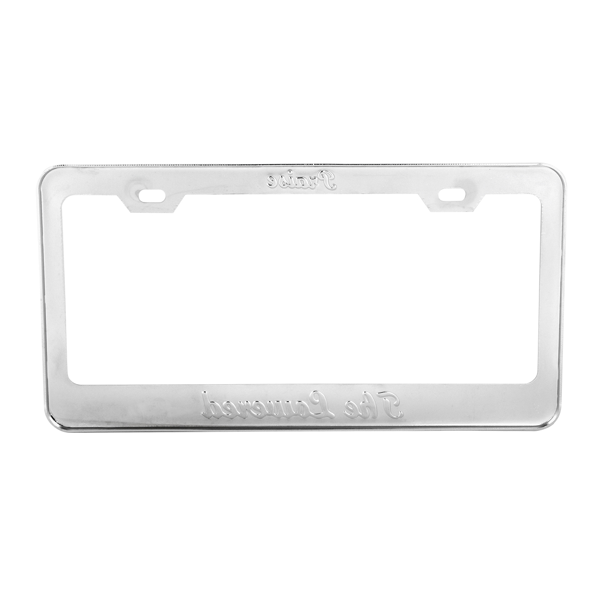 """2 Hole Frame with Black """"Praise the Lowered"""" Script - Back View"""