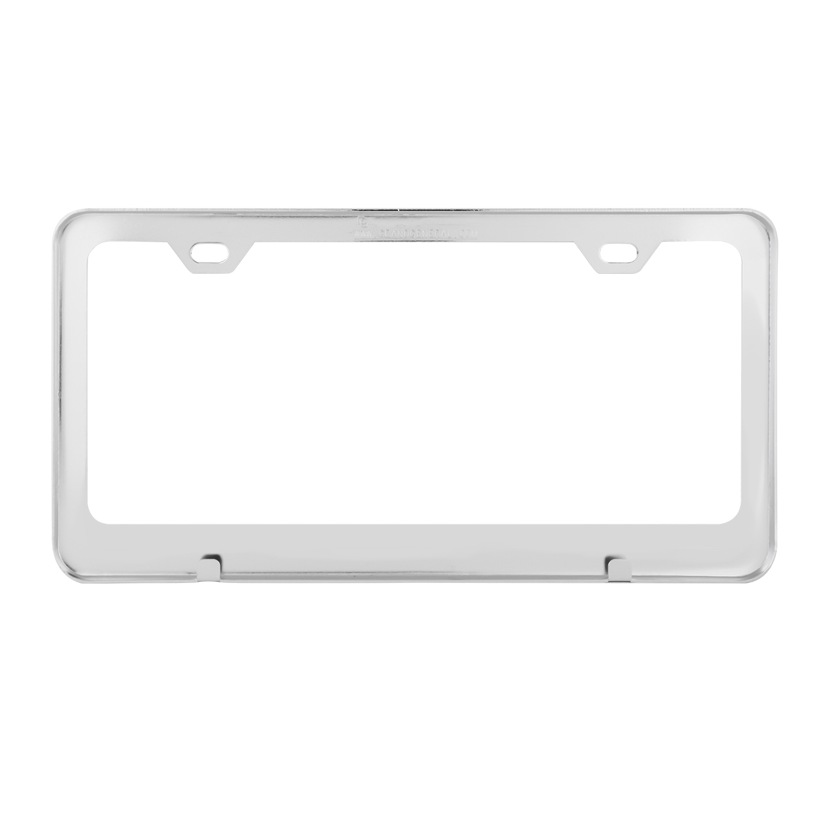 Plain Stainless Steel 2 Hole License Plate Frame - Back View