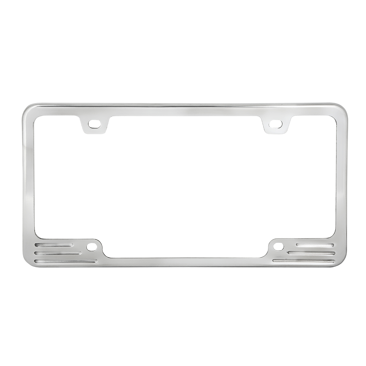 60470 Aluminum License Plate Frame with 4 Holes