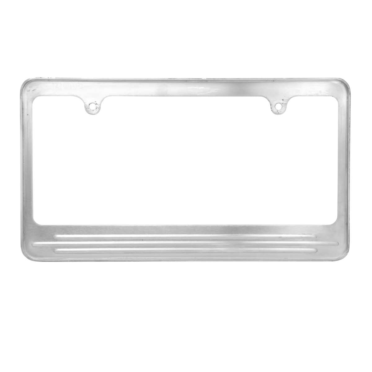 60473 Aluminum License Plate Frame with 2 Holes - Back View