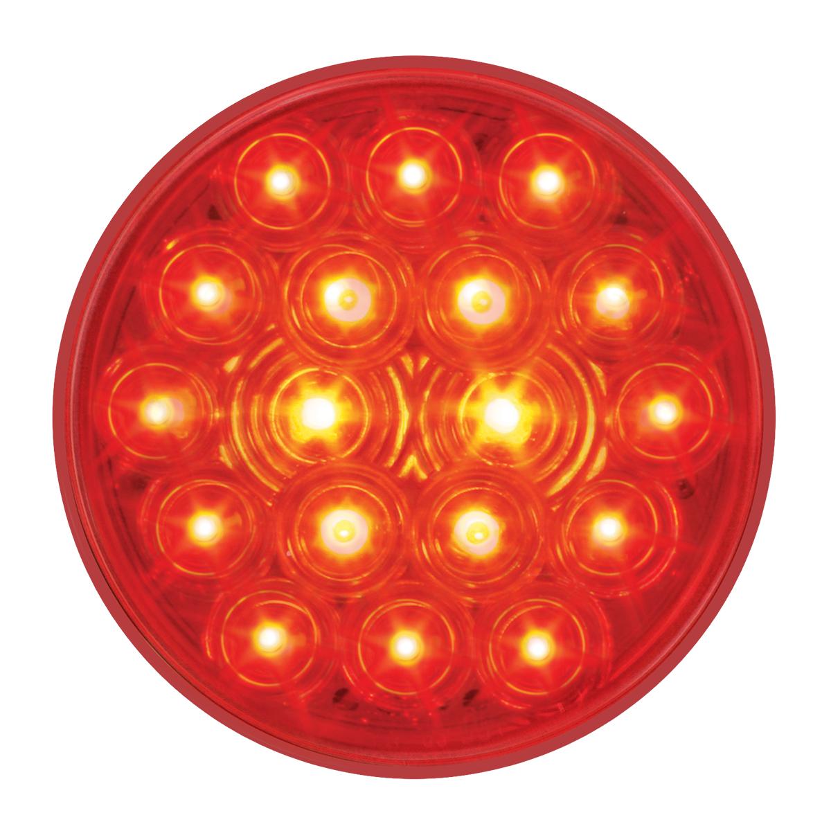"#76452 4"" Round Fleet LED Flat Red/Red Light"
