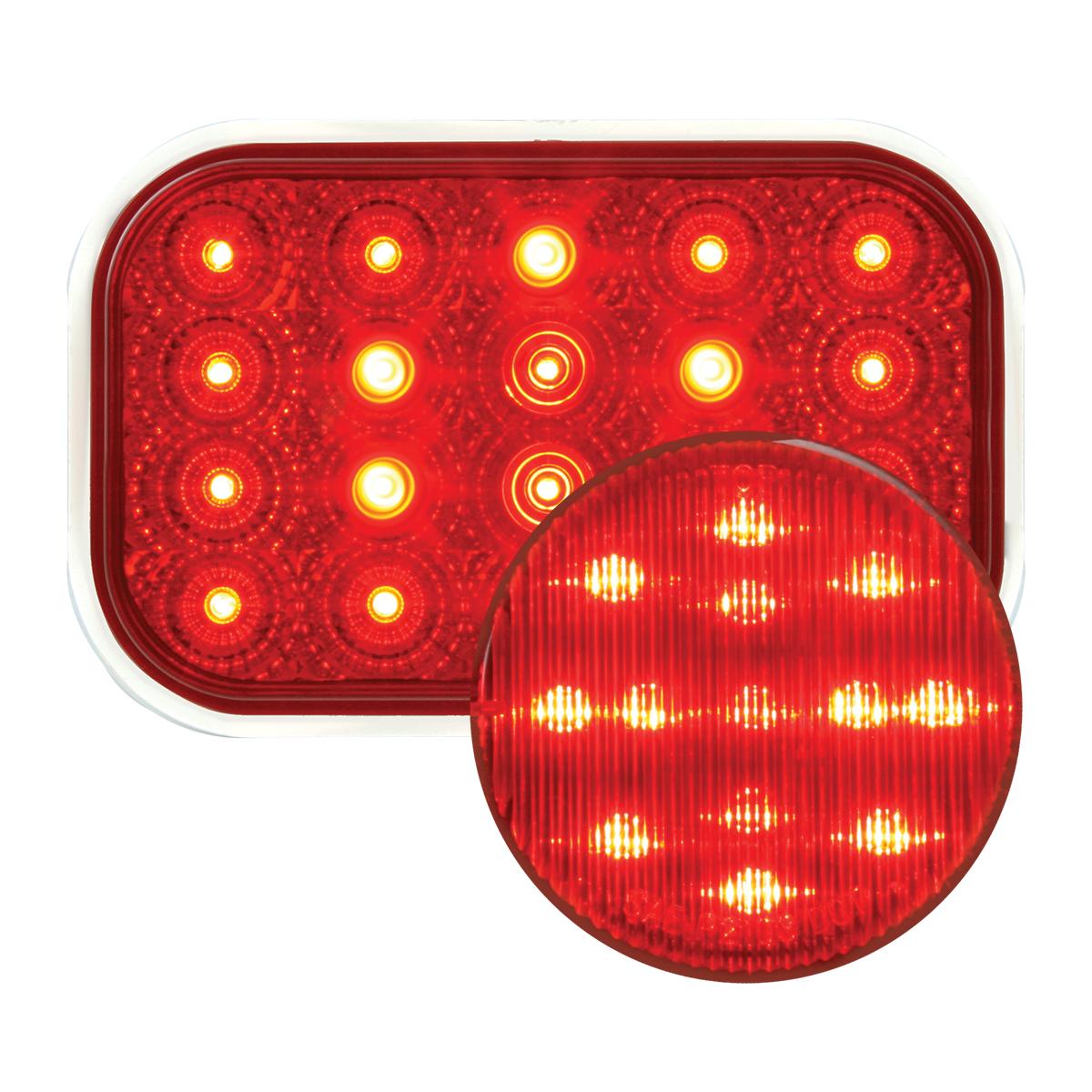 #77013/#76662 Spyder LED Red/Red - Flat