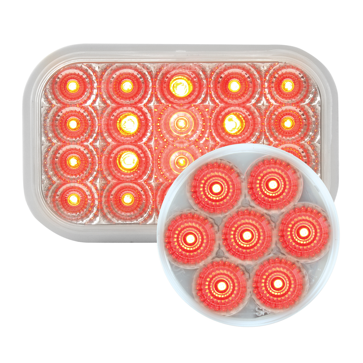 #77014/#76663 Spyder LED Red/Clear - Flat