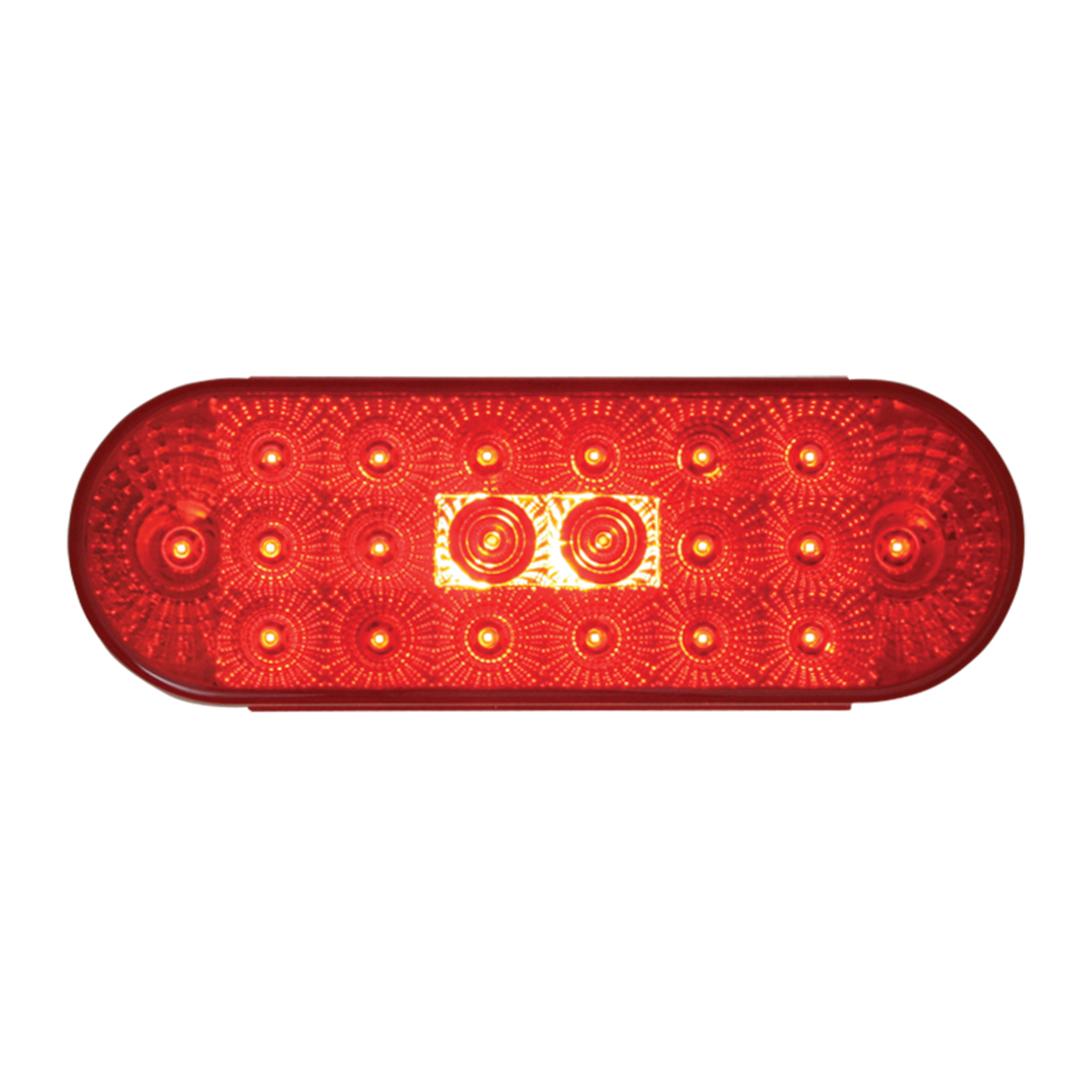 Oval Spyder LED Flat Red/Red Light - Slanted