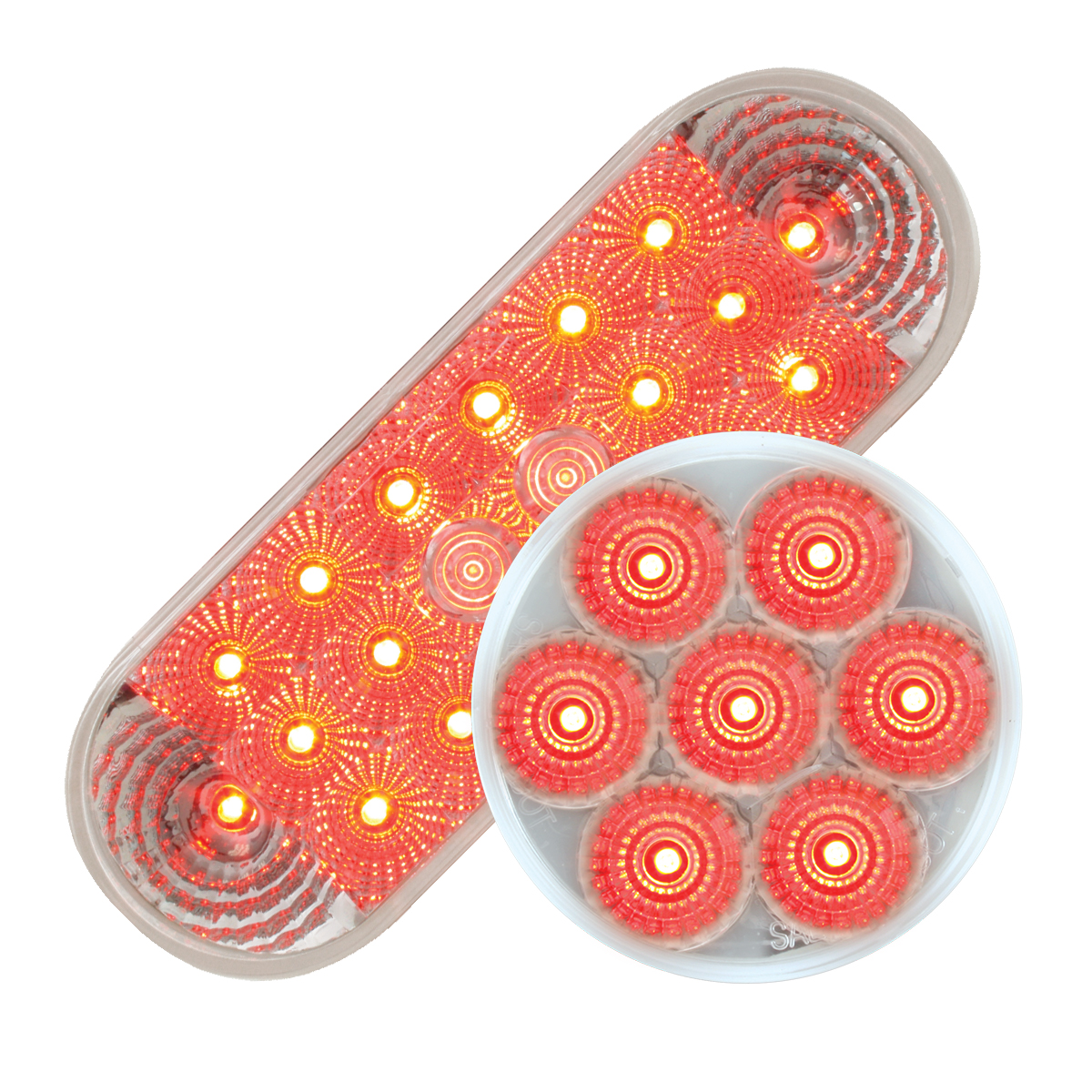 #77054/#76663 Spyder LED Red/Clear - Flat