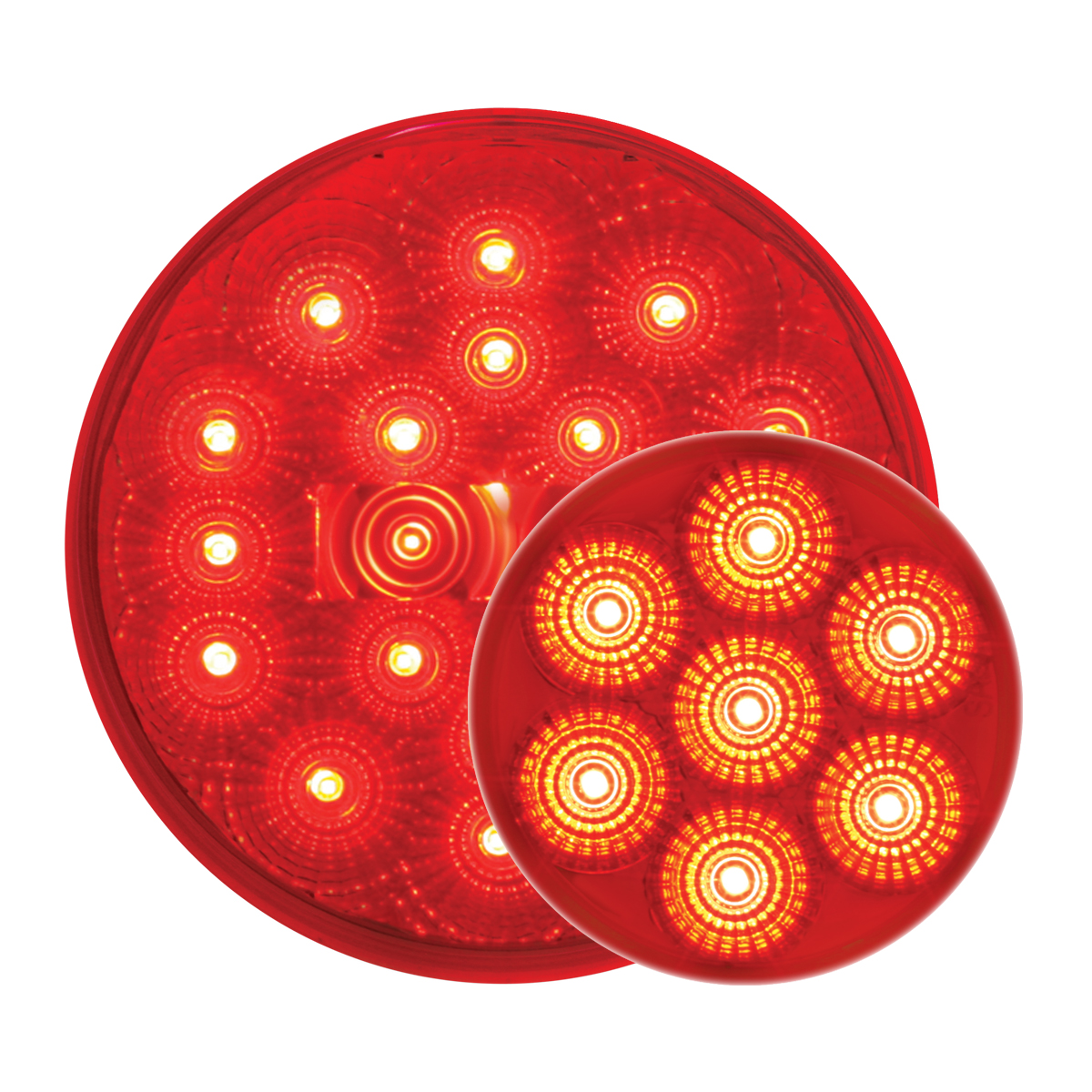 #77093/#76662 Spyder LED Flat - Red/Red