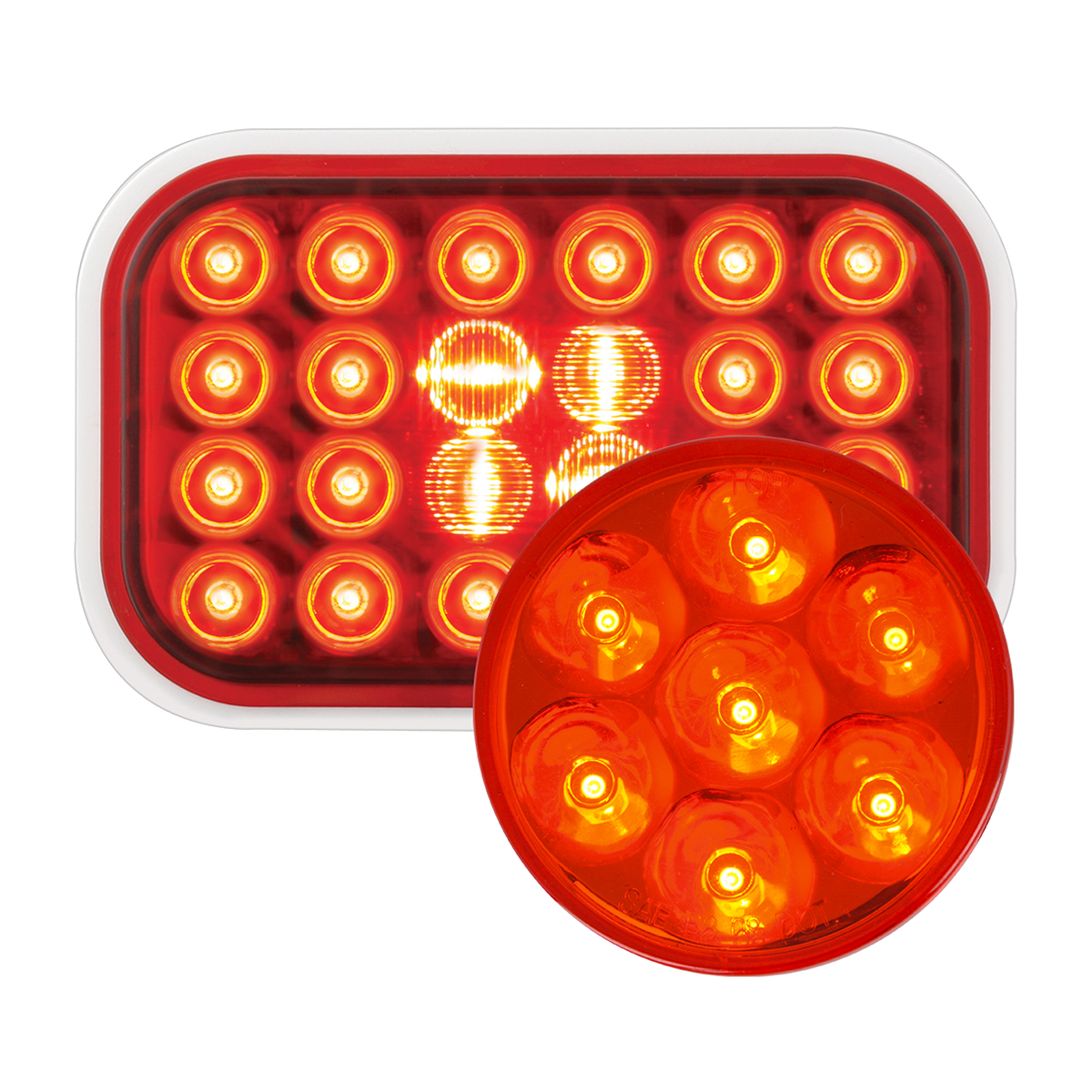 #77182/#76542 Pearl LED Flat Light - Red/Red