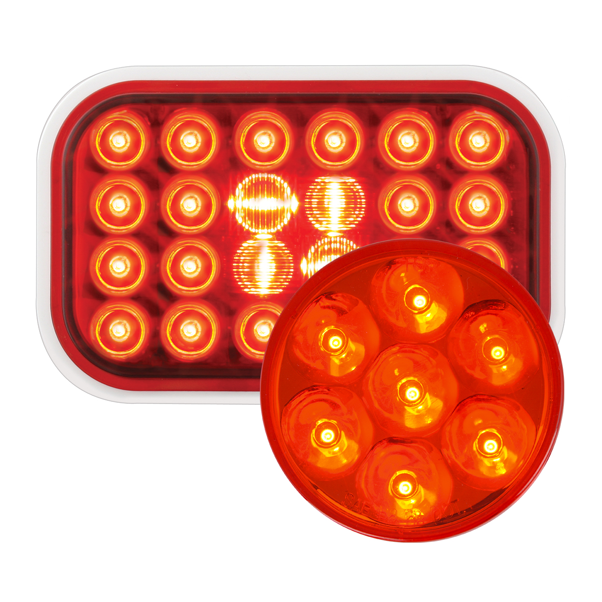 #77182/#76582 Pearl LED Flat - Red/Red