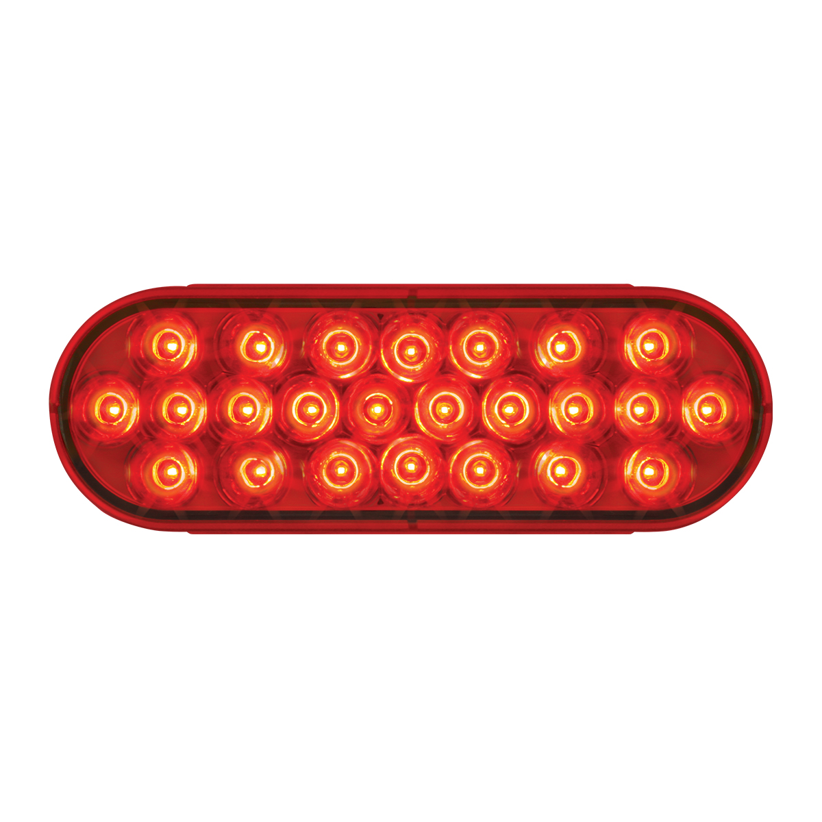 #78233 - Oval Pearl LED Flat Red/Red Light - Slanted