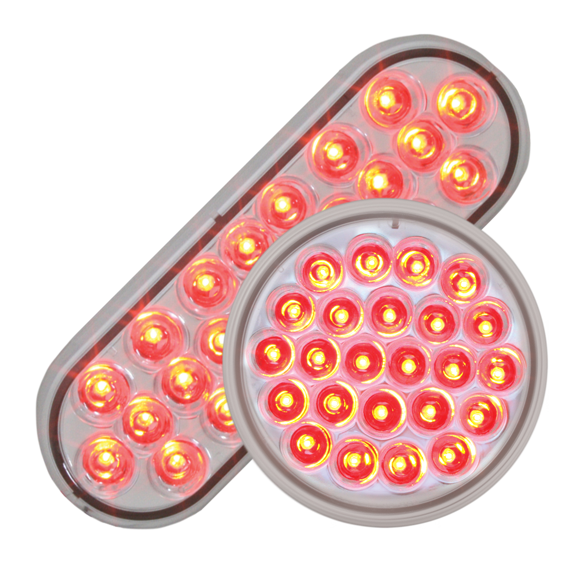#78234/#78274 Pearl LED Red/Clear - Flat