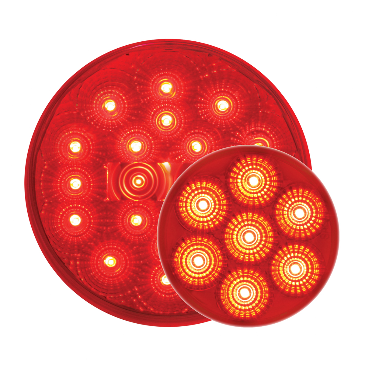 #78273/#76542 Pearl LED Flat - Red/Red