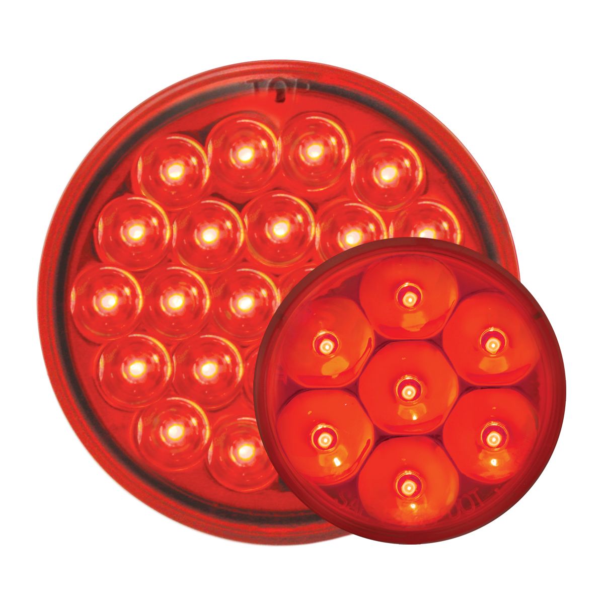 #78273/#76582 Pearl LED Red/Red - Flat