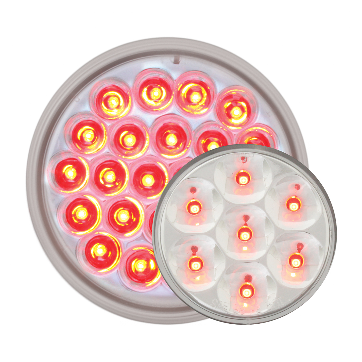 #78274/#76543 Pearl LED Flat - Red/Clear