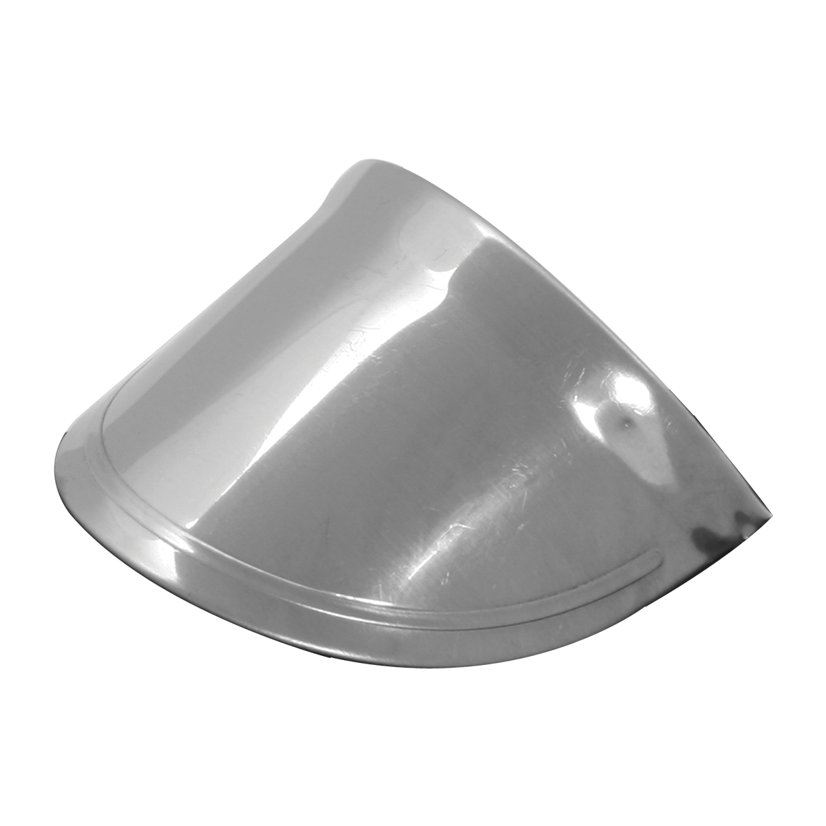Stainless Steel Small Marker Light Visor – Up