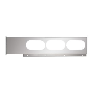 Chrome Two Piece Rear Light Bars with Oval (6) Lights in Straight Style