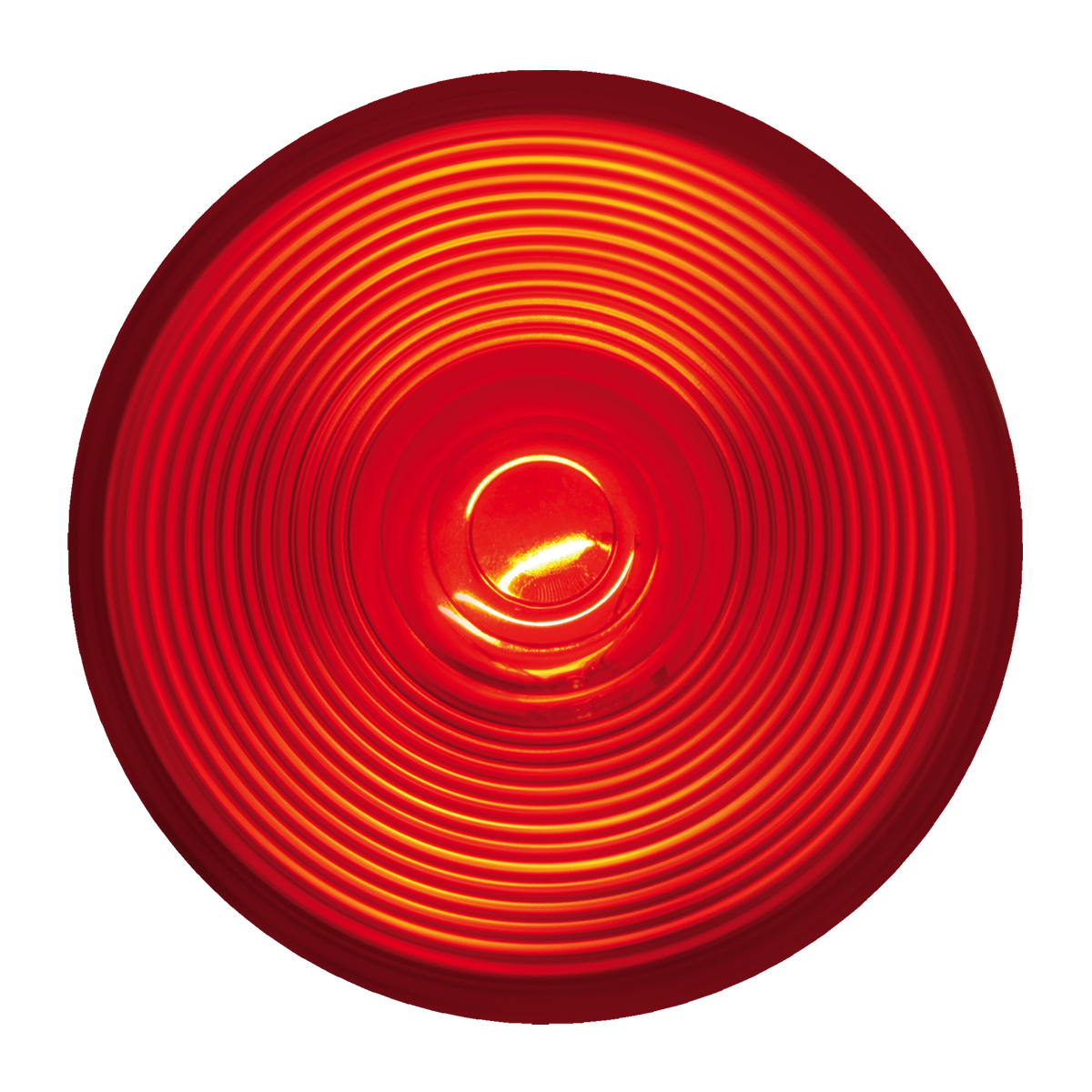 "#80471 4"" Round Incandescent Flat - Red/Red"