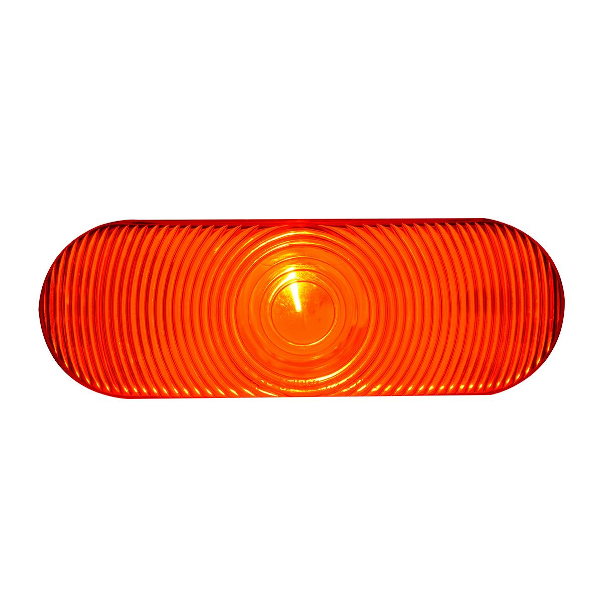 #80805 - Oval Sealed Incandescent Flat Red/Red Light - Slanted