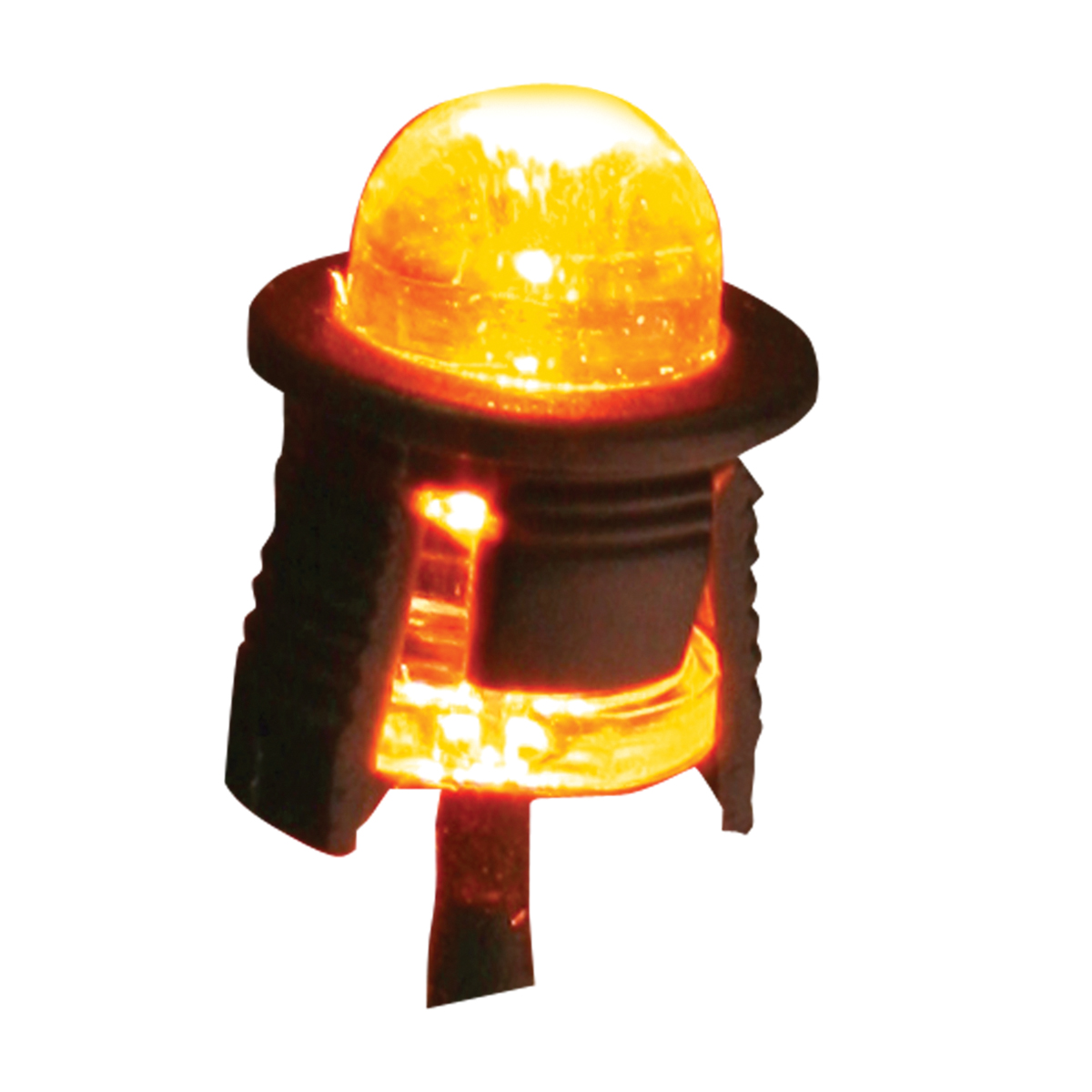 Single Amber LED Light Bulb – Profile View