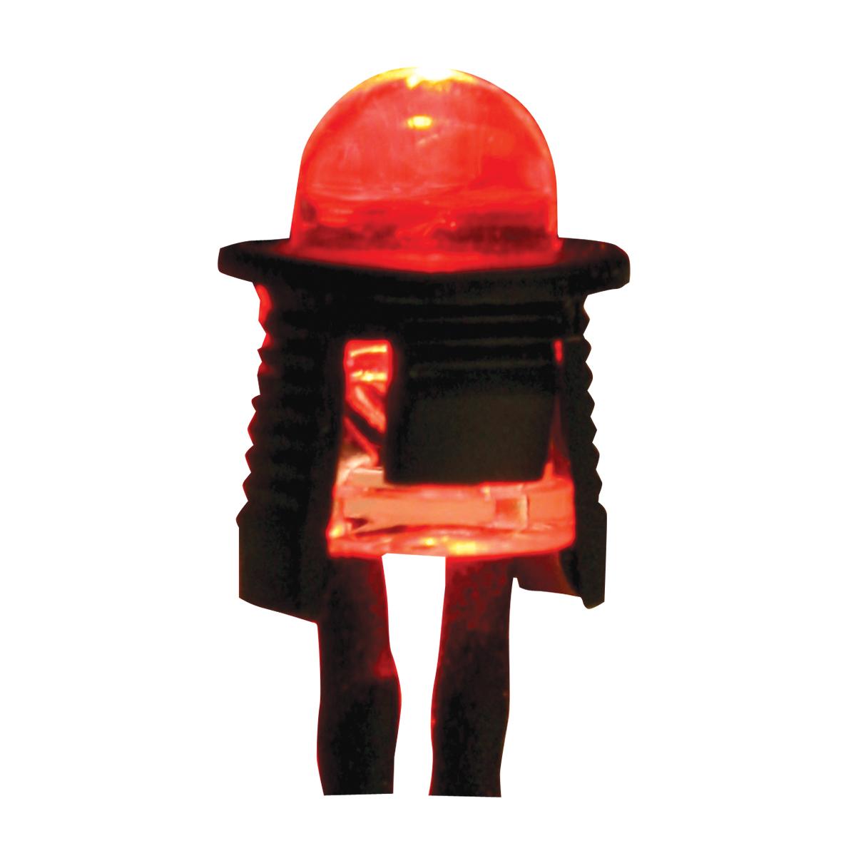 Single Red LED Light Bulb – Profile View