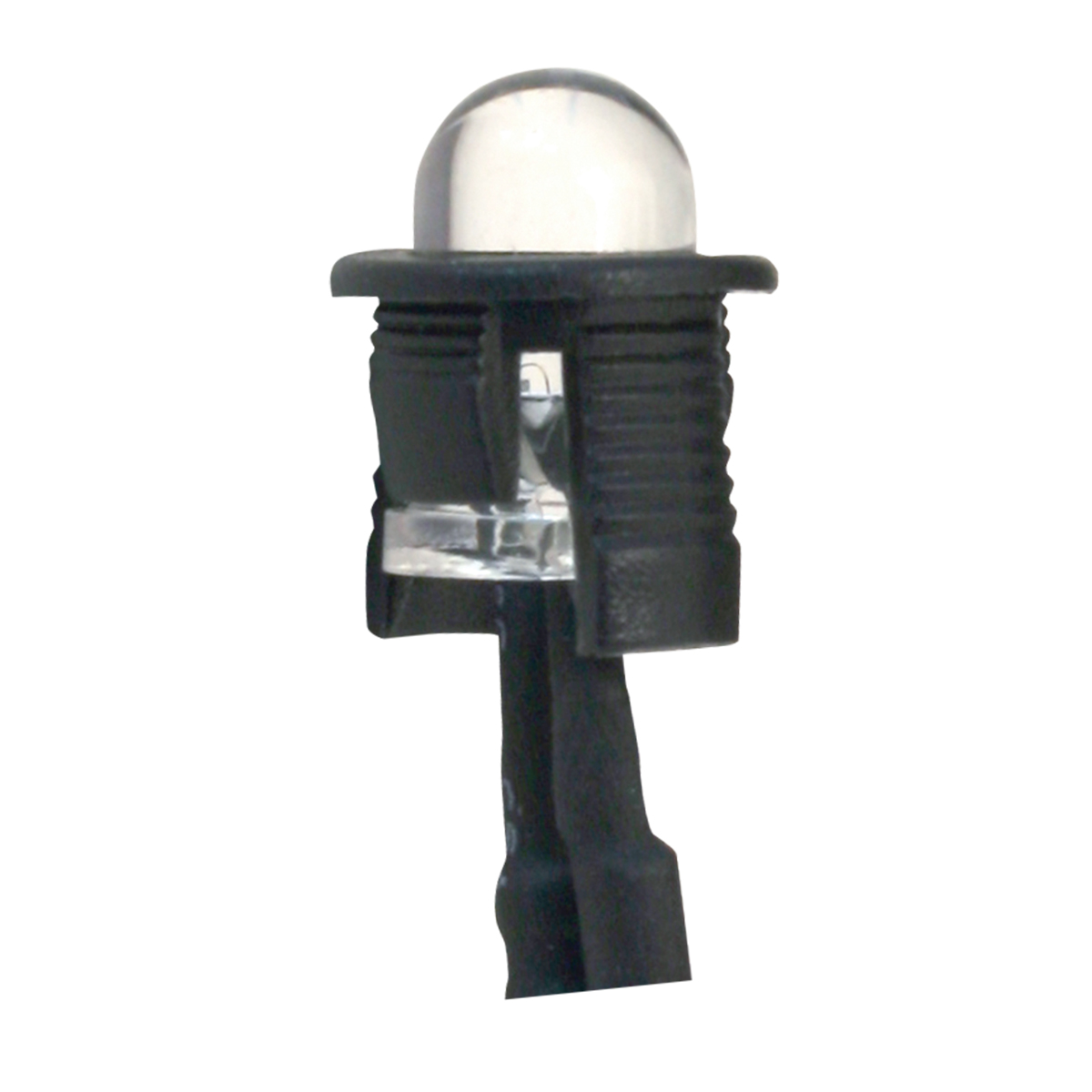 Single Red LED Light Bulb – Unlit View