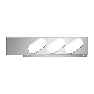 Stainless Steel Two Piece Rear Light Bars with Oval (6) Lights in Slanted Style