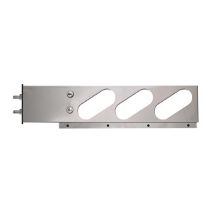 Stainless Steel Two Piece Spring-Loaded Light Bars with Oval (6) Lights in Slanted Style and 3.75″ Bolt Spacing