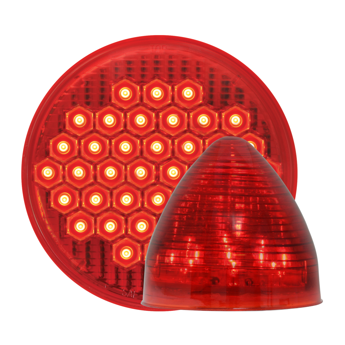 #87700/#79311 High Count LED Red/Red - Beehive