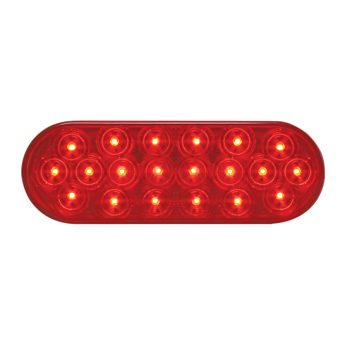 #87721 Oval Sealed Fleet LED Flat Red/Red Light