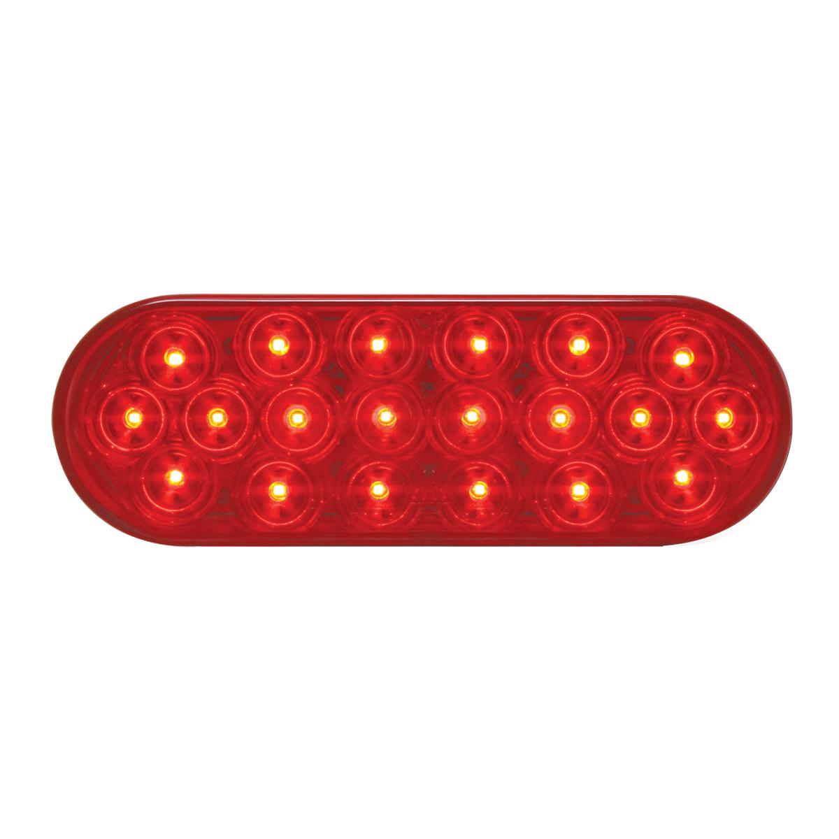 #87721 Oval Fleet LED Flat Red/Red Light
