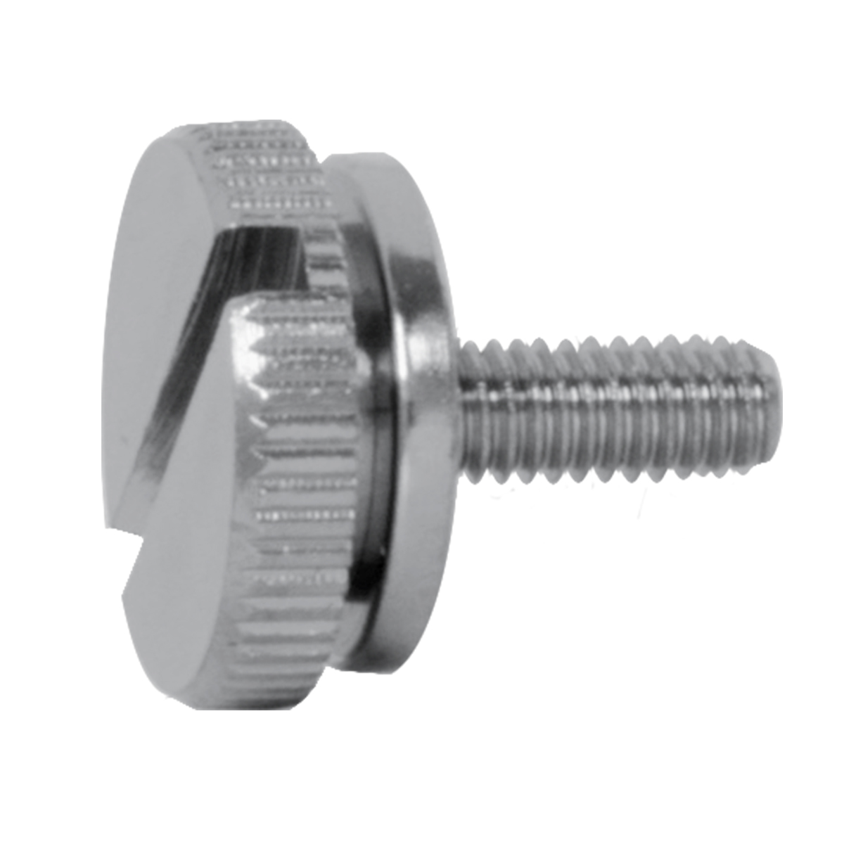 Chrome Plated Steel 4mm C.B. Screw Knobs - Side View