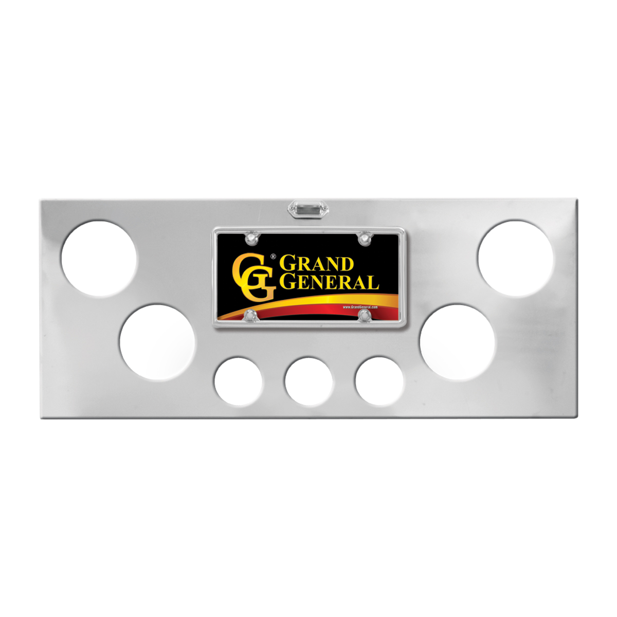 Chrome Plated Steel Rear Center Panel with Backing Plate Only