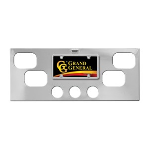 Chrome Rear Center Light Panels with Backing Plate and Rectangular (4) & 2.5″ (3) Round Lights