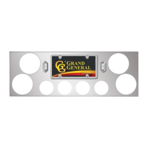 Stainless Steel Rear Center Light Panels with Backing Plate and 4″ (4) and 2″ (4) Round Lights