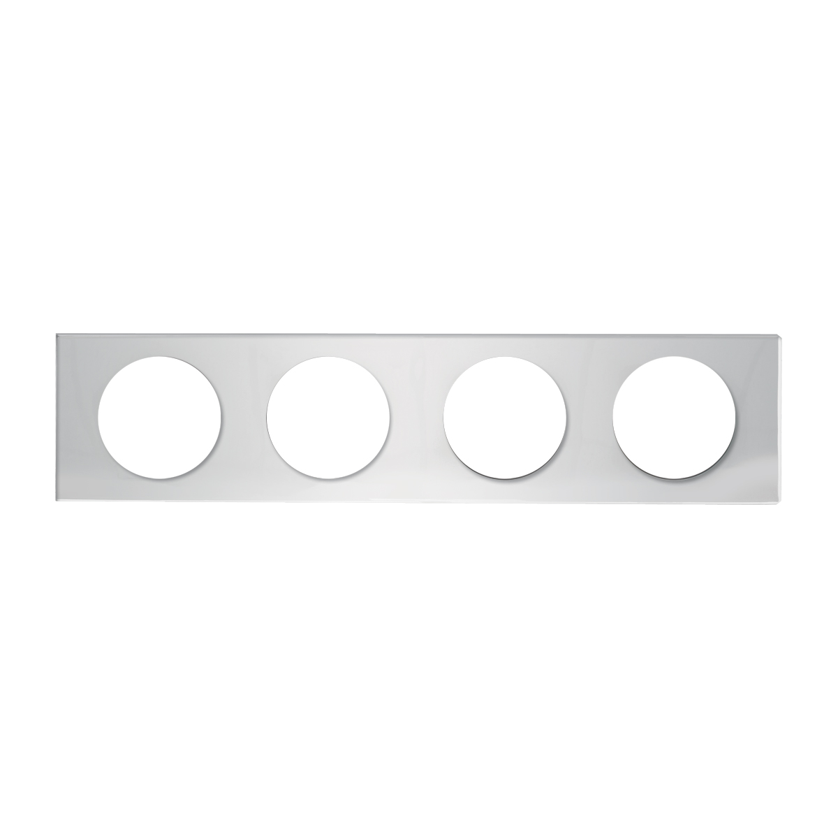 Chrome Plated Steel Panel Rear Center Light Panel Only