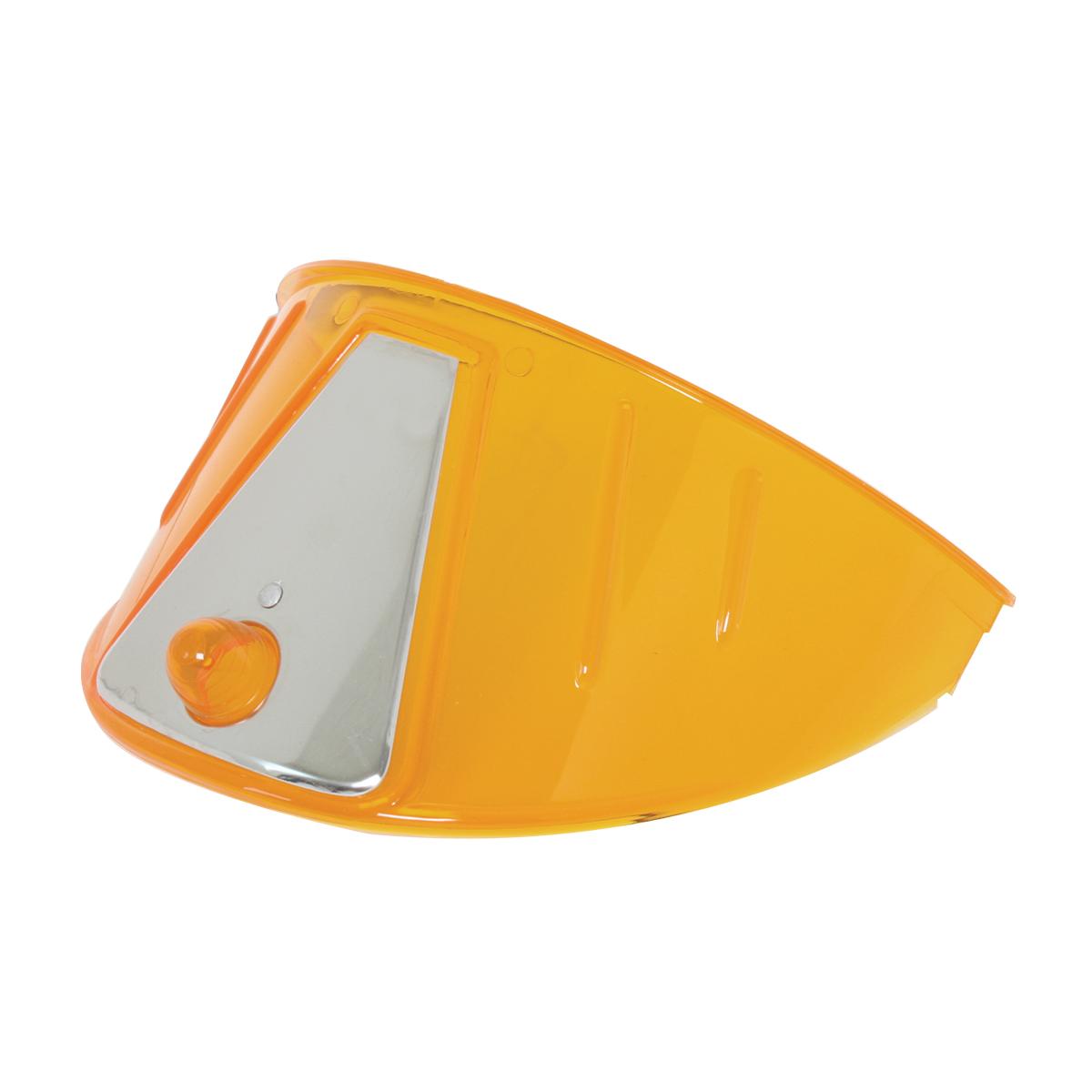 "7"" Acrylic Headlight Visor - Amber"