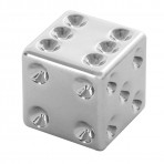 Chrome Dice Valve Stem Cover