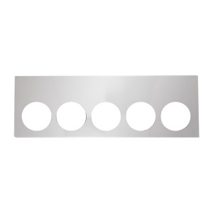 Stainless Steel Rear Center Light Panels with 4″ (5) Round Lights