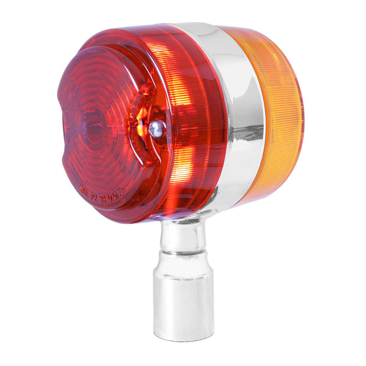 #94672 Chrome Plated Double Face Marker Light w/out Stainless Steel Rim - Projected Style Lens