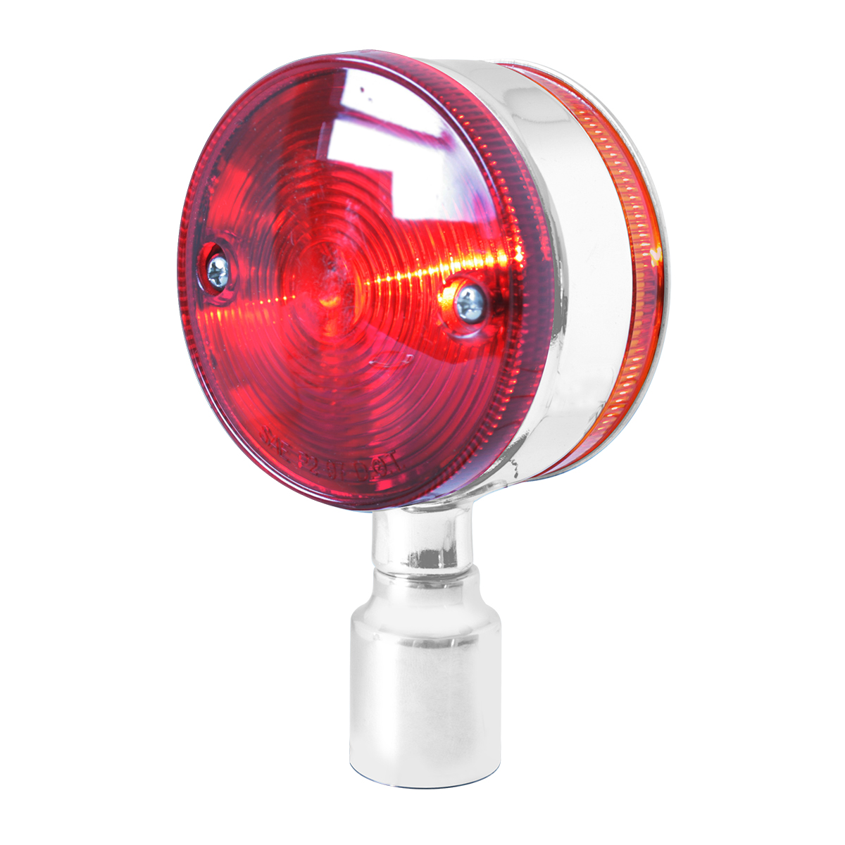 #94680 Chrome Plated Double Face Marker Light w/o Stainless Steel Rim - Projected Style Lens