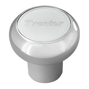 Large Chrome Screw-In Air Valve Control Knobs with Stainless Steel Script Plate