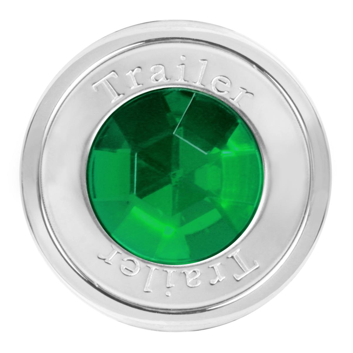 95823 Trailer Air Control Knob w/ Green Crystal