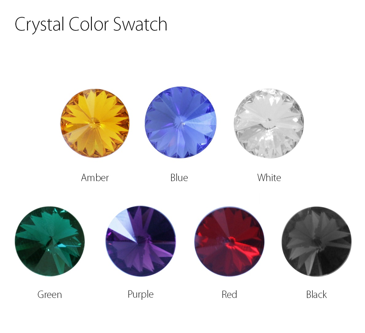 Crystal Color Swatch for #50650 - 50656
