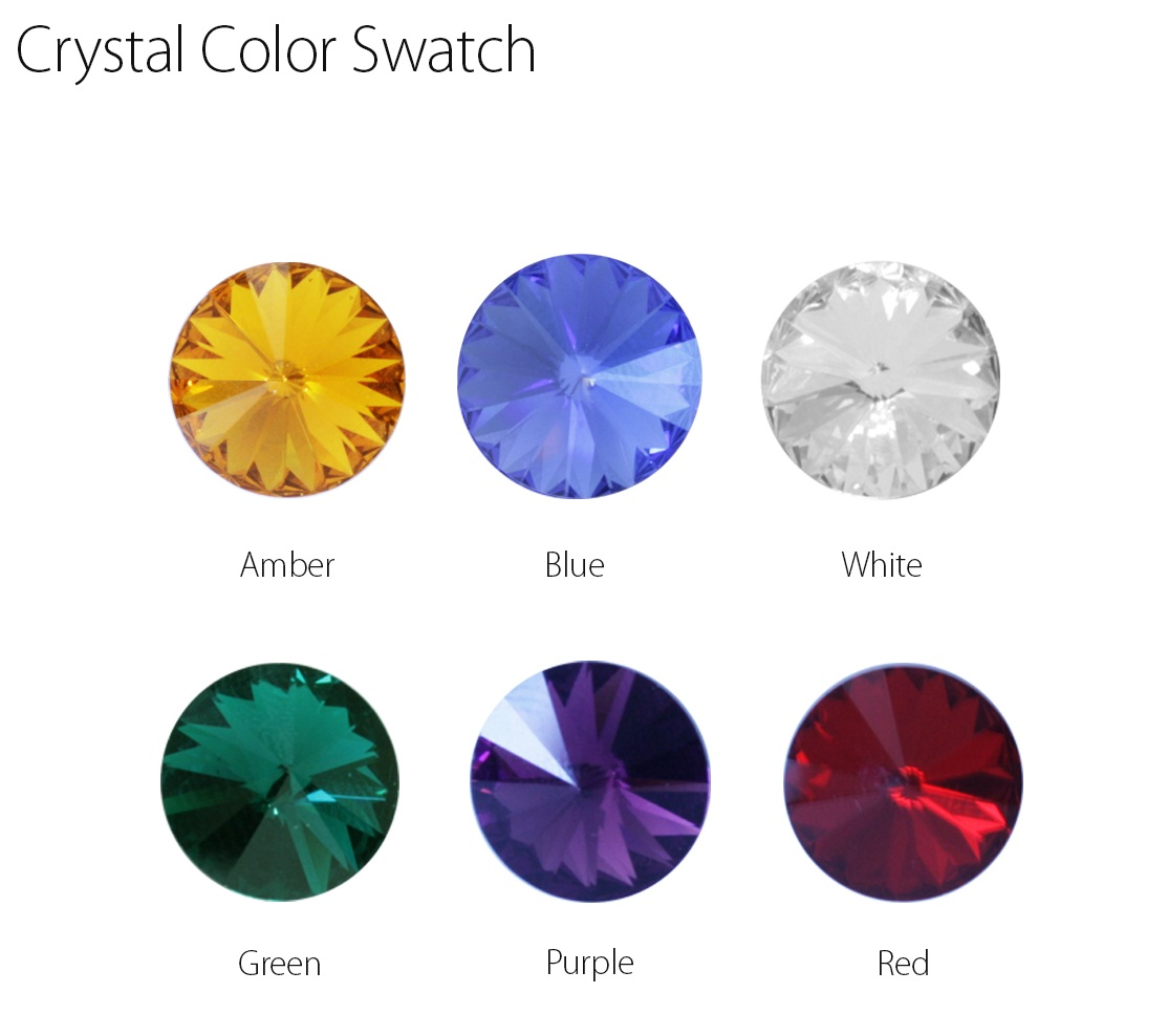 Crystal Color Swatch for #50860 - 50865