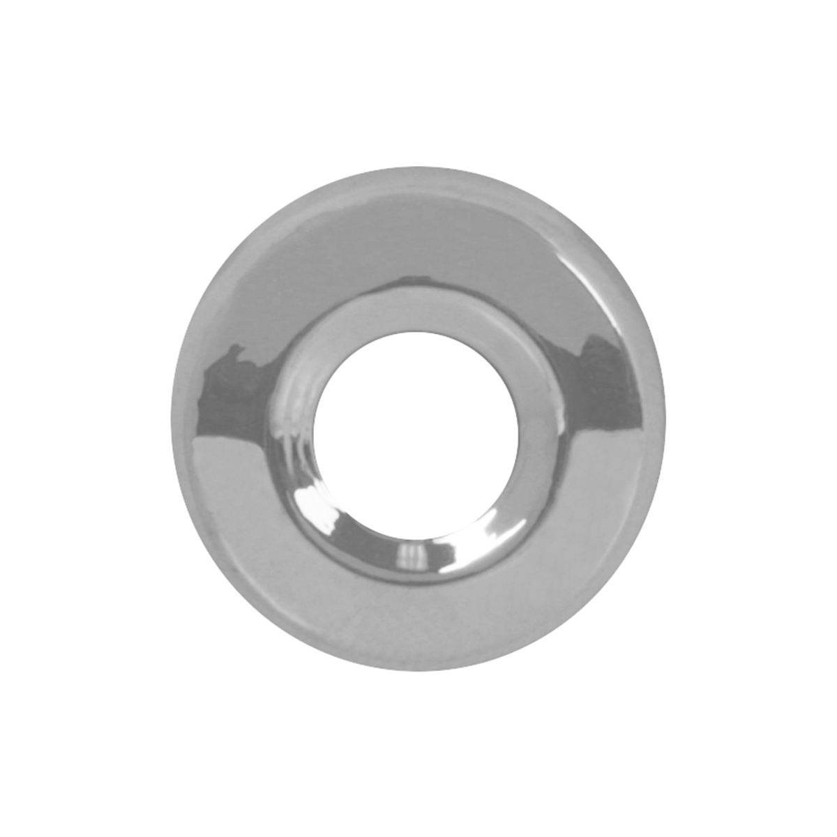 67262 FLT Chrome Plastic Toggle Switch Face Nut Cover