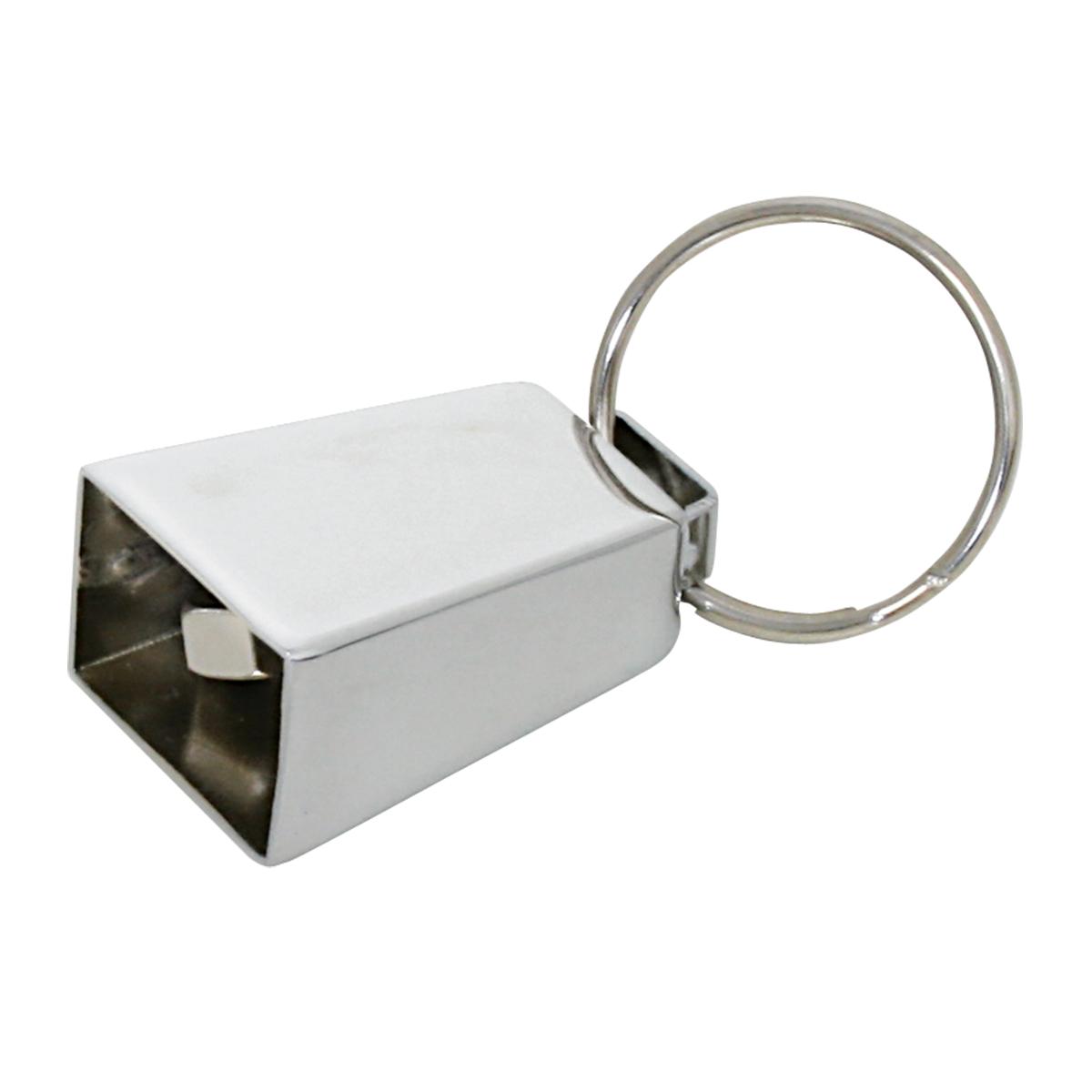 93359 Chrome Mini Cow Bell Key Chain